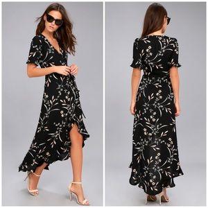 NWOT Lulus Wild Winds Wrap Dress